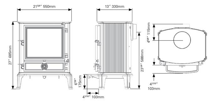 Brunel 3CB Dimensions